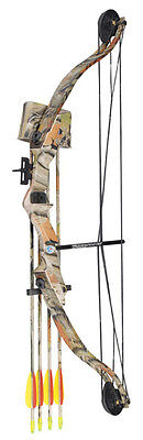 Archery Set Typhoon Youth Junior Camo Compound Bow and Arrow for Kids + 6 Arrows