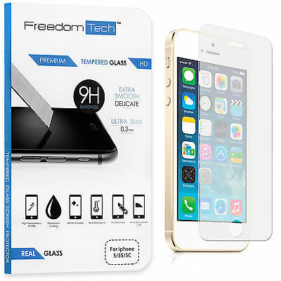 High Quality Premium Real Tempered Glass Screen Protector For Iphone Se 5S 5C 5