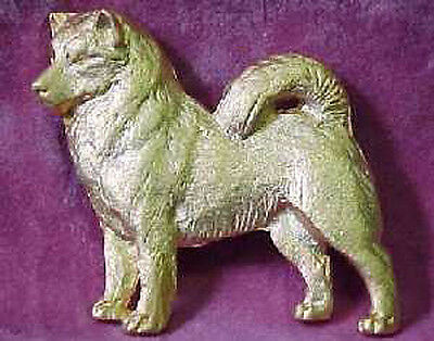 Chema Sotoca 24K Gold Plate Dog Brooch Pin Jewelry NEW Alaskan Malamute