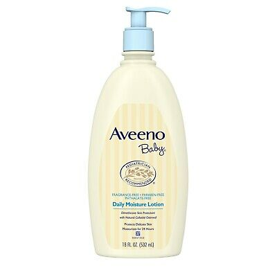 AVEENO Baby Daily Moisture Lotion Fragrance Free 18 oz (Pack of 3)