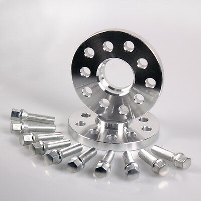 VW 20mm Wheel Spacer Kit &Tapered Bolts 5-100 / 5-112 Hubcentric Golf Ford