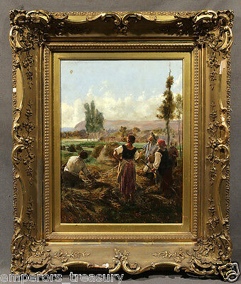 "Late 19th Century French Julien DUPRÉ Oil Painting ""Watching a Balloon"""