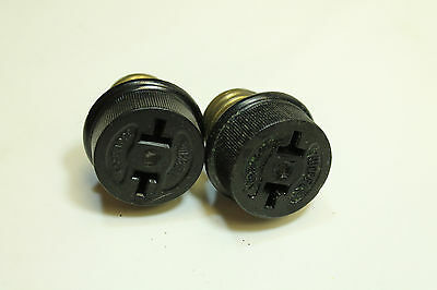 *Bulk* (2) Vintage Bakelite Hubbell Light Socket Outlet Adapters  (57LT4N)