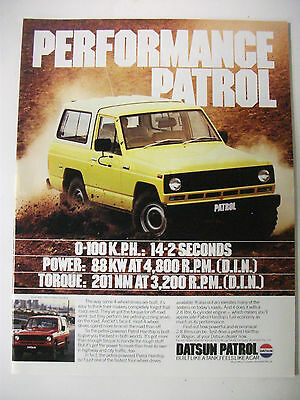 1982 Nissan Patrol Hardtop Australian Magazine Fullpage Colour Advertisement