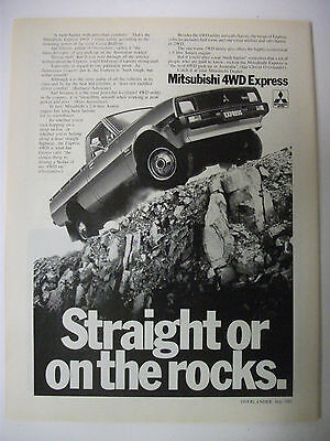 1982 Mitsubishi 4Wd Express Australian Magazine Fullpage Advertisement