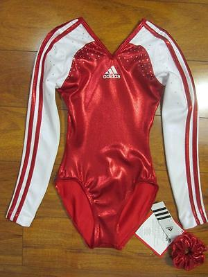 Adidas 3 Stripes Color Block Leotard AD Small or AD Extra Small Crystals Gymnast