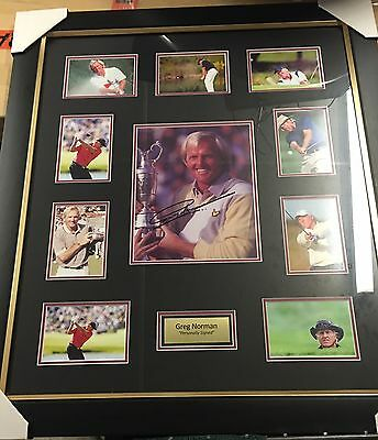 Greg Norman Framed And Signed Photo Collage