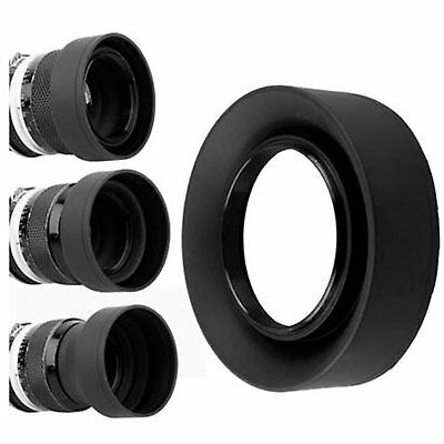 55mm 3-Stage Collapsible 3in1 Rubber Lens Hood for Canon Nikon Pentax Camera