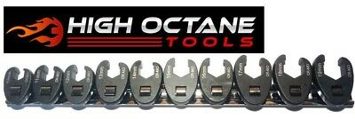 10 Piece Quality Metric Crows Foot Spanner Set Flare Nut Type Crowsfoot 3/8 Drve