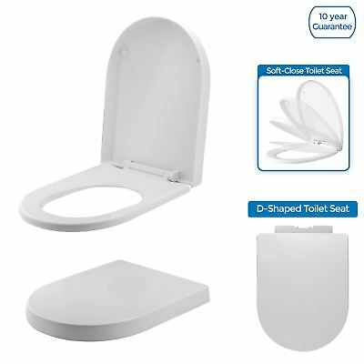 Admirable Rosie Luxury Bathroom Modern White D Shape Soft Close Heavy Machost Co Dining Chair Design Ideas Machostcouk