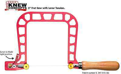 """Knew Concepts Saw Sawframe - Lever Tension 5"""" 125.005C Made in USA - TS128"""