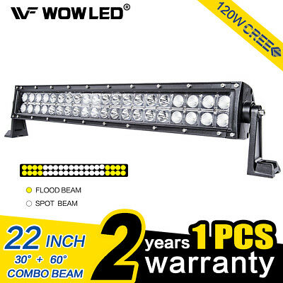 "WOW - 120W 22"" LED Roof Lights Bar for Offroad Driving Car Truck SUV 4WD Lamp"