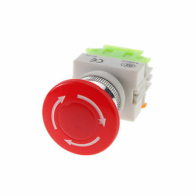 1 Piece 10A CNC Latched Emergency Stop Mushroom Pushbutton Switch