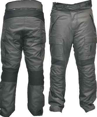 Ce Armoured Black Waterproof Motorbike Motorcycle  Trousers Pant Stock Clearance