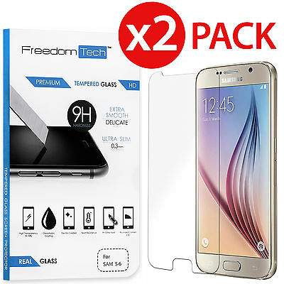 2-Pack Premium Thin Tempered Glass Film Screen Protector for SAMSUNG Galaxy S6