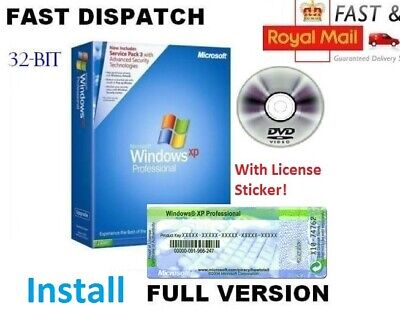 Limited Microsoft Windows XP Professional SP3 GENUINE Disc Edition 10 7 UK