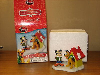 Dept 56 Disney Mickey's Christmas Village A Special Snack For Pluto New Iob Mint
