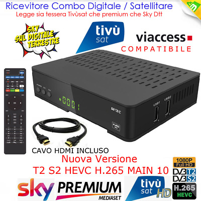 Decoder Combo Satellitare, Terrestre E App Web Full Hd Pvr Usb Digiquest Evo3.1