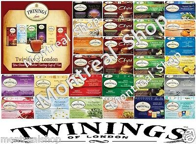 Twinings of London Tea - 20 CT Box - 29 Variations to Choose From.