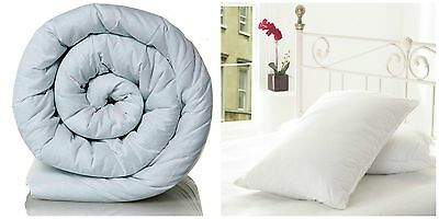 Goose Feather Pillow Pair With A Hollowfiber Duvet Qulit.