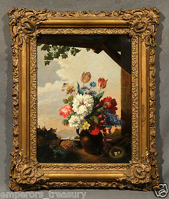 Early 20th Century European Flower Still Life Oil Painting