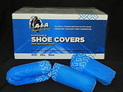 300 DISPOSABLE SHOE COVERS NON-SKID / MEDICAL/ BOOT COVERS 2XL (fit to Size 18)