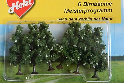 MODEL PEAR TREES 6 cm ~ HEKI 1172 SCENERY FOR MODEL RAILWAY N/Z SCALE, NEW