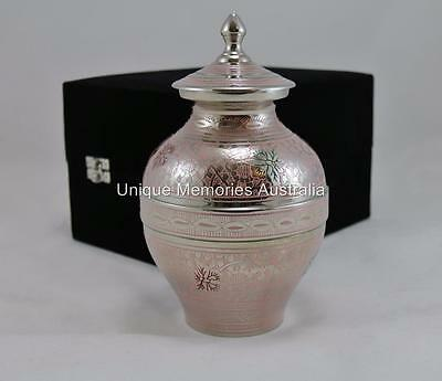 """Solid Brass 8"""" Regal Multicolour Butterfly Cremation Memorial Funeral Urn 34 kg"""