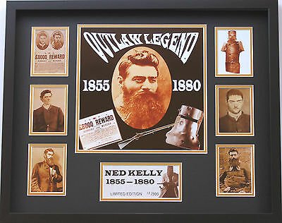 New Ned Kelly Limited Edition Memorabilia Framed