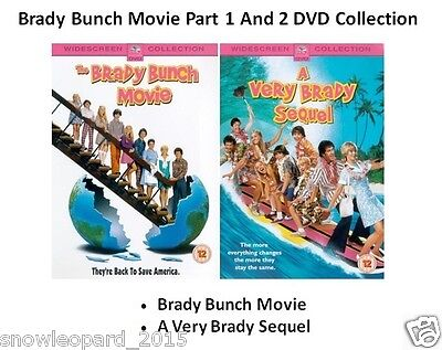 BRADY BUNCH MOVIE DOUBLE PART 1 AND 2 VERY SEQUEL DVD Collection Film Brand New