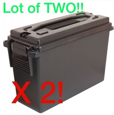 40 Cal Ammo Can Ammunition Storage Plastic Black Berry's MFG .40 Caliber Box NEW