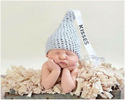 Hershey Kisses Hat With Ribbon Size Newborn- 3 Months Kiss Photo Prop SALE