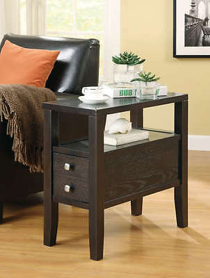 Casual Cappuccino Finish Storage Chairside Accent End Table by Coaster 900991