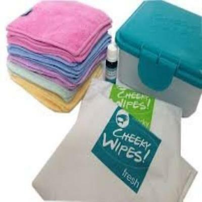 Cheeky Wipes Hands & Faces Cloth Washable Baby Kit New Gift UK SELLER