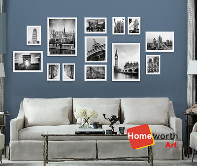 NEW 13 piecs photo frames wall art collection picture white picture decor frame