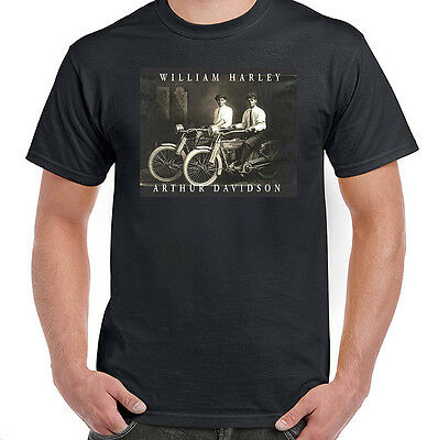 William Harley & Arthur Davidson on Their Motorcycles, T-Shirt, All Sizes NWT