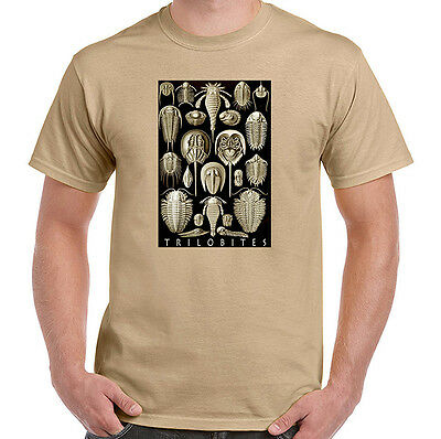 Trilobites by Haeckel, Fossils, Geology T-Shirt, Mens Ladies Youth Styles, NWT
