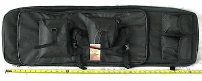 "38"" Padded Rifle Shotgun Case / Bag Hunting Range Bag / Backpack Black Color"
