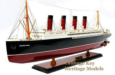 "RMS Mauratania, Famous Cunard liner,  1907 Wooden 32"" fully built Museum Quality"