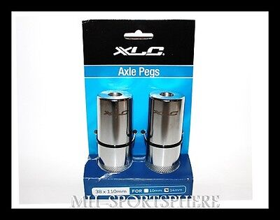 XLC Axle-Pegs VR/HR Ø 14 mm Axle, BMX Freestyle, CroMo, 2 Stück