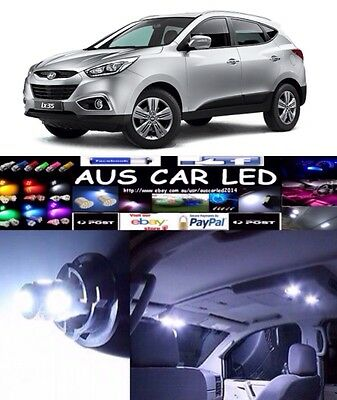 Hyundai ix35 BRIGHT White Interior light LED BULB GLOBE upgrade kit