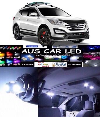 Hyundai Santa Fe White Interior light LED upgrade kit for dome & map ect
