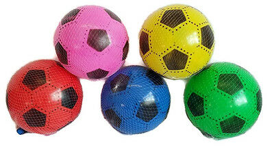 5x PLASTIC PVC FOOTBALLS FLAT PACKED UNINFLATED SPECIAL OFFER JOBLOT RRP £9.99