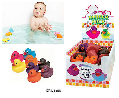 1x Colour Changing Bath Ducks Baby Toddler Play Toy Bathtime Squeaky Rubber Duck