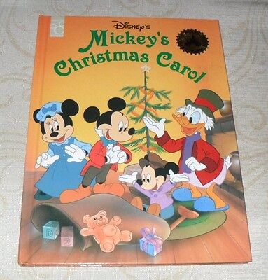 disneys mickeys christmas carol hardback book like new - Mickeys Christmas Carol