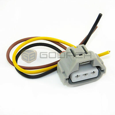 1 X 3-way toyota female plug connector pigtail wiring harness electrical