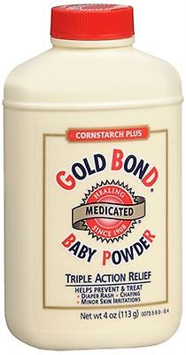 Gold Bond Cornstarch Plus Baby Powder 4 oz - 2 Pack