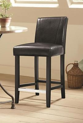 Black Parson Counter Height Dining Chair by Coaster 130064 - Set of 2