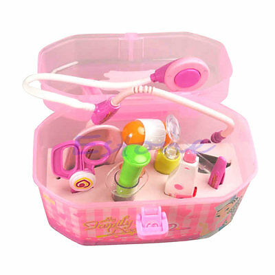 Pink Doctor Kit Medical Box Play Role Toy Set For Kids Girls Boys Children Gift