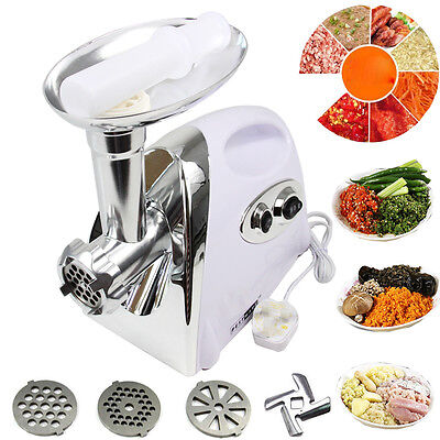 White 2800W Electric Household Meat Grinder Mincer Machine Sausage Kibbe Maker